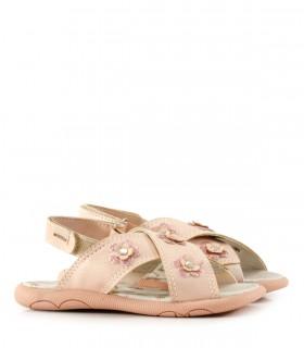 Sandalias de símil cuero en rosa