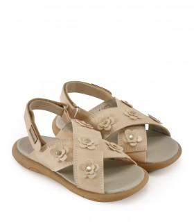 Sandalias de símil cuero en beige