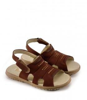 Sandalias de cuero en oxido