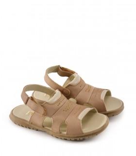 Sandalias de cuero en beige