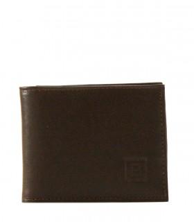 Billetera de hombre en cuero marrón