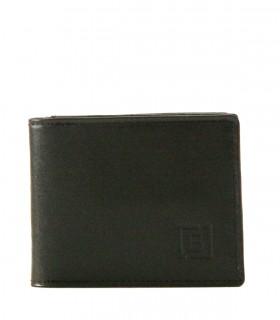 Billetera de hombre en cuero negro