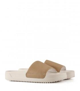 Sandalias bajas de cuero en nude