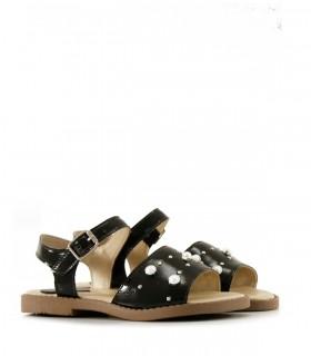Sandalias de símil cuero en negro