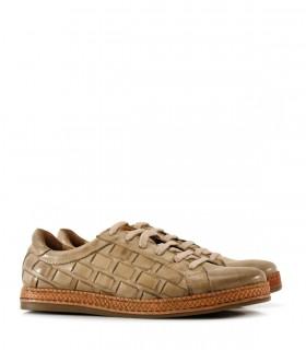 Zapatillas urbanas de cuero en piedra