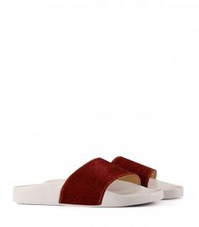 Sandalias en glisten en rojo