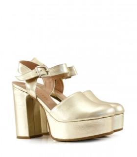 Zapatos de fiesta en cuero platino