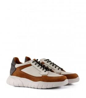 Zapatillas urbanas de cuero suela/blanco/azul