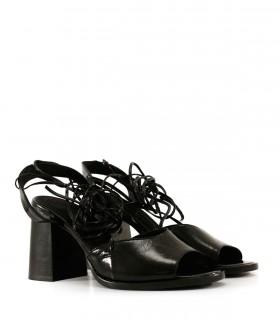 Sandalias de fiesta en charol negro