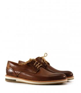 Zapatos de vestir en cuero tostado