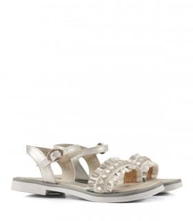 Sandalias de símil cuero en plata