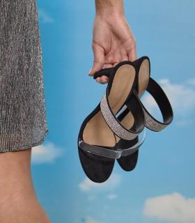 Sandalias de fiesta en gamuza negro