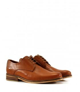 Zapatos de vestir en cuero brandy/ suela