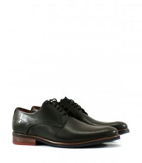 Zapatos de vestir en cuero brandy/ negro