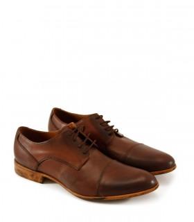Zapatos de vestir en cuero habano