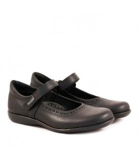 Zapatos guillerminas colegiales escolares nena de cuero negro