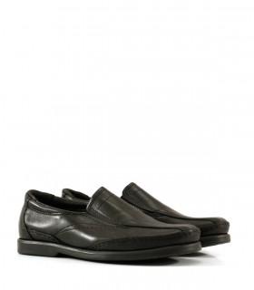 Zapatos escolares de cuero negro con elástico del 34 al 40