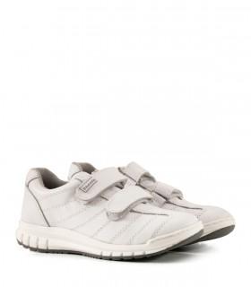 Zapatillas colegiales de cuero blanco del 34 al 38