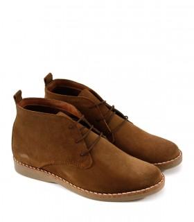 Botinetas de gamuza marrón