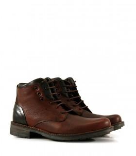 Borcegos clásicos de cuero marrón