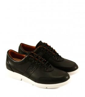 Zapatos urbanos de cuero negro