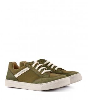 Zapatillas de tela en verde