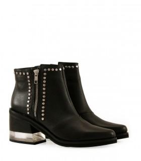 Botas cortas de diseño en cuero negro