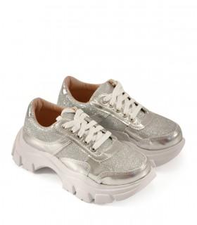 Zapatillas para nenas en plata