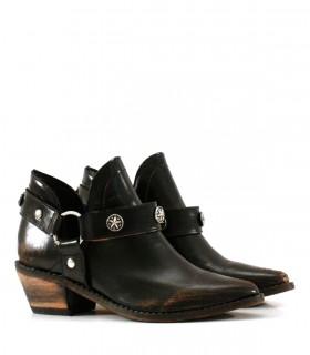 Botas texanas de cuero negro