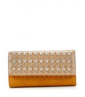 Billeteras de símil en suela-cobre