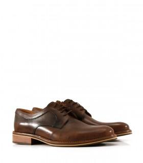 Zapatos de vestir en cuero cogñac