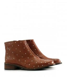 Botas cortas de cuero marron