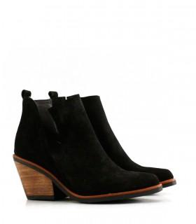Botas cortas de gamuza negro
