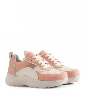 Zapatillas para nena en símil cuero rosa