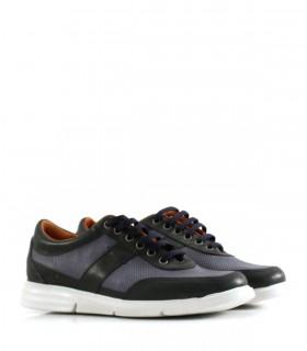 Zapatos urbanos de cuero azul