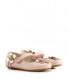 Guillerminas de cuero en rosa