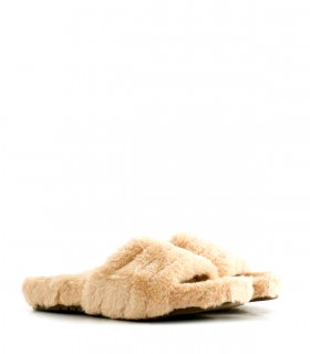 Pantuflas color beige