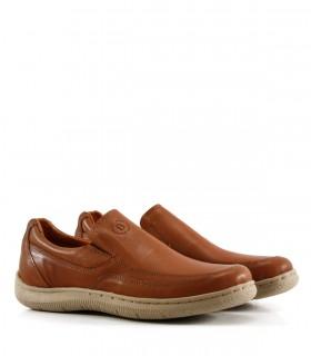 Zapatos confort de cuero marrón