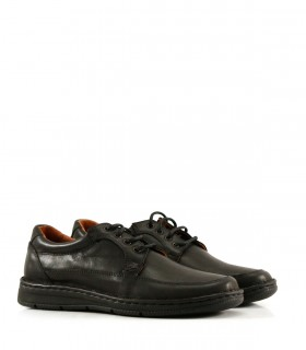 Zapatos confort de cuero en negro