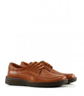 Zapatos confort de cuero en marrón