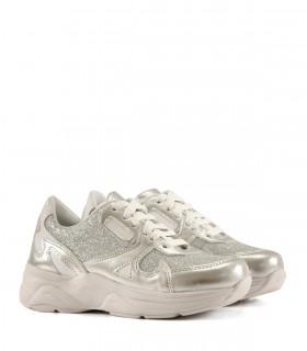 Zapatillas de símil en plata