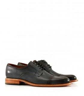 Zapato de vestir en cuero azul