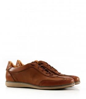Zapatillas urbanas en cuero marrón
