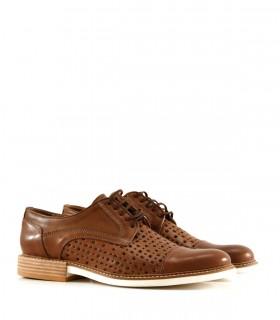 Zapatos de cuero para hombre en marrón