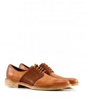 Zapato de vestir acordonado en cuero suela
