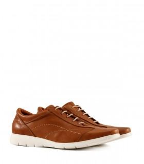Zapatos de cuero acordonado en tostado