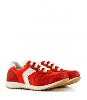 Zapatillas de símil en rojo