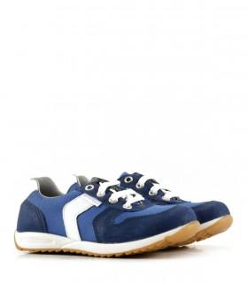 Zapatillas de símil en azul