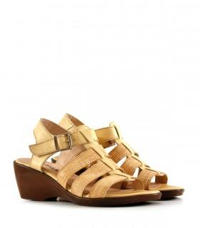 Sandalias de cuero en camel