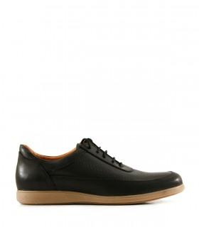 Zapatillas urbanas en cuero negro